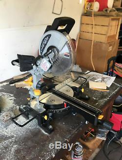 10' Bevel Sliding Compound Miter Saw 15 Amp Motor Precision Cutting Tool