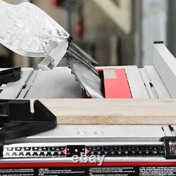 10 Table Saw Electric Cutting Machine Aluminum Tabletop Woodworking with Stand