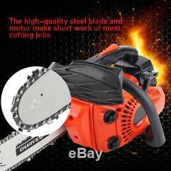 12\ 25.4CC 900W Bar Gas Chainsaw Powered Chain Sawing Wood Cutting Machine