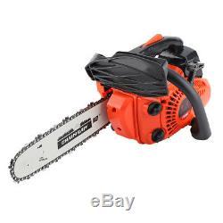 12 900W Bar Gas Gasoline Powered Chainsaw 25cc 3000r/min Chain Saw Wood Cutting