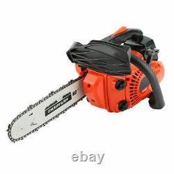12 Inch Bar 25CC Gasoline Chainsaw Gas Powered Wood Cutting Chain Saw Machine US