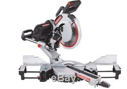 12 in. Dual-Bevel Sliding Compound Miter Saw Wood Lumber Crown Molding Laser Cut