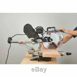 12 inch Dual Bevel Sliding Compound Miter Saw Wood Lumber Precise Cutting Tool