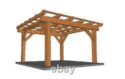12' x 12' Timber Fame Pergola CNC Pre-Cut Frame Package