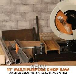 14 in Chop Saw Multi-Purpose Cutting Blade Steel Aluminum Wood Plastic Cuts Tool