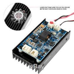 15W Laser Head Engraving Module TTL 450nm Blu-ray Wood Marking Cutting Tool AF