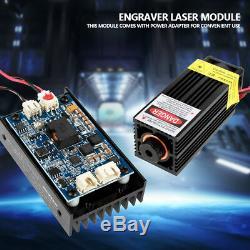 15W Laser Head Engraving Module + TTL 450nm Blu-ray Wood Marking Cutting Tool H/