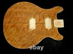 #16-619 Les Paul Double Cut TYPE body, US MADE, Unfinished, QUILTED, LIGHTWEIGHT