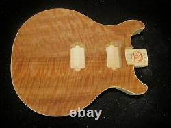 #16-620 Les Paul Double Cut TYPE body, US MADE, Unfinished, QUILTED, LIGHTWEIGHT