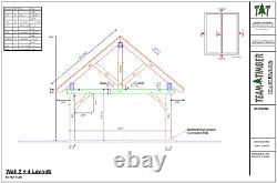 16' x 20' Timber Frame Pavilion CNC Pre-Cut Frame Package