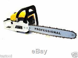 18 Gasoline Chainsaw Machine Cutting Wood Gas Chain Saw Aluminum Crankcase