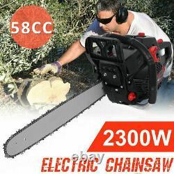 20'' Bar 58CC Gasoline Chainsaw 4.0HP Gas Powered Wood Cutting Chain Saw