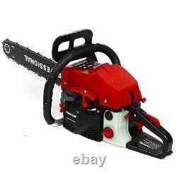 20 Gas Chainsaw 2-Cycle Wood Cutting Hand Tool 62cc 2-stroke Gasoline Chain Saw