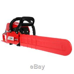 20''Pro 52CC Engine Petrol Chain Saw Cutting Wood Saw Bar Handle+Repair Tool New