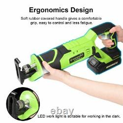 20V Max Lithium Ion Compact Cordless Reciprocating Saw Cutting Tool + 6 Blades