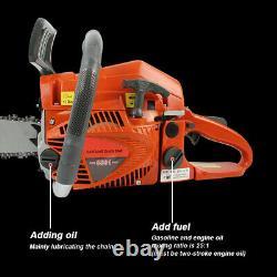 20in Bar 58CC Gas Chainsaw Gasoline 2 Stroke Powered Wood Cutting Chain Saws NEW
