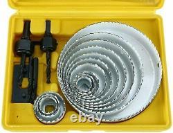 20pcs Hole Saw Drill Bit Kit Wood Plastic Sheet Metal 3/4''-5'' Cutting Tool Kit