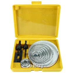 20pcs Hole Saw Drill Bit Kit Wood Plastic Sheet Metal 3/4 5 Cutting Tool Set