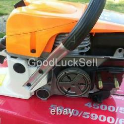 22 52CC Gasoline Chainsaw Cutting Wood Gas Sawing Aluminum Crankcase
