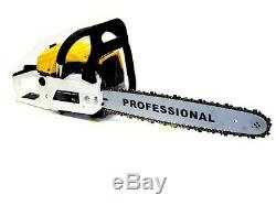 22 Gasoline Chainsaw Cutting Wood Gas Chain Saw Aluminum Crankcase