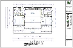 22' x 46' Timber Frame Cabin CNC Cut Frame Package
