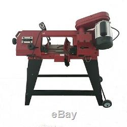 220V Horizontal Vertical Metal Cutting Band Saw 4.5 inch 750W