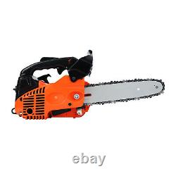 25.4CC Gasoline Tree Wood Cutting Machine Gas Chain Saw Aluminum Crankcase USA