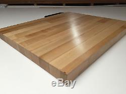25 x 36 x 1.5 Maple Wood Butcher Block Counter top // Cutting Board