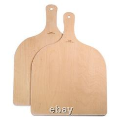 2x Large Pizza Peel Wooden Pizza Paddle Spatula Cutting Board for Baking Pizza