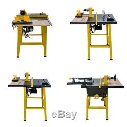 31''×24'' Multi-functional Woodworking Table Saw Metal Wood Cutting Machine
