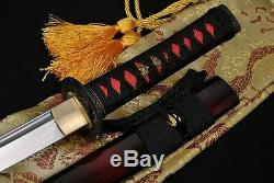 31 HANDMADE Japanese Samurai Sword WAKIZASHI Folded Steel BLADE CAN CUT TREE