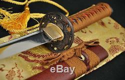 31japanese Samurai Practise Lion Sword Wakizashi Full Tang Blade Can Cut Bamboo