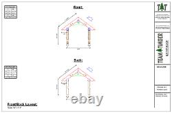 32 x 54 Timber Frame Entry Roof CNC Pre-Cut Frame Package