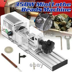 350W DIY Mini Wood Lathe Bead Cutting Machine Bench Drill Polishing Woodworking