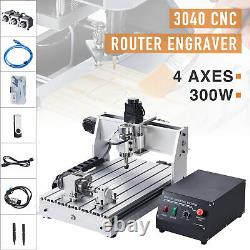 4 Axis CNC Router Cutting Engraving Carving Machine w USB Port for Wood & More
