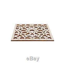 4 Pcs Moroccan Decorative Panels, Wooden Plaque, Trim, Beading, Laser cut wood