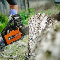 45cc 22 Chainsaw cutting wood gas chain saw aluminum gasoline 2.4hp engine EPA