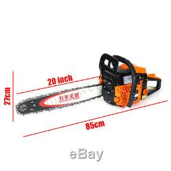 5.2KW 75cc Chainsaw Powered Gasoline Chain Saw Pro Wood Cutting Machine With Brake