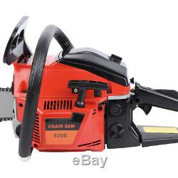 52CC 22 Gasoline Chainsaw Cutting Wood Gas Sawing Aluminum Crankcase Chain Saw