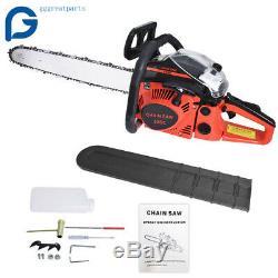 52cc 22 Bar Gas Powered Chain Saw 52cc 2 Cycle Tree Chainsaw Wood Cutting