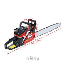 52cc 22 Bar Gas Powered Chain Saw 52cc 2 Cycle Tree Chainsaw Wood Cutting CDI