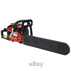 52cc 22 Gas Chain Saw Set Blade Petrol Chainsaw 2 Stroke Light Wood Cutting Kit