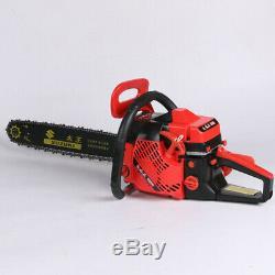 52cc Gasoline Chain Saw Cutting Wood Gas Sawing Aluminum Crankcase Chain Sa