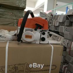 52cc Petrol Chain Saw Gas Powered 20 Bar Wood Cutting Aluminum Crankcase Saw
