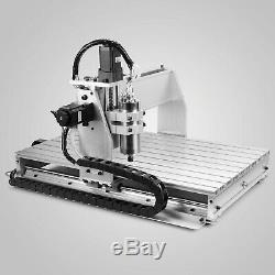 6040T 3Axis CNC Router+Rotary Axis USB Engraver Arts Crafts Wood Cutting Machine