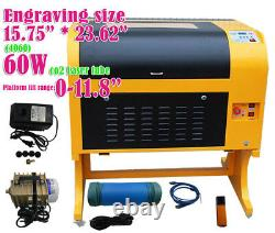 60W CO2 USB Laser Engraving Cutting Machine 15.7523.62 inch 400 x 600 mm 110 V