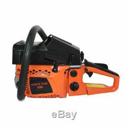 62CC 2600W 20 Bar Chainsaw Gasoline Powered Cutting Wood Gas Chain Saw 2 Stroke