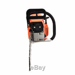 62cc Petrol Chain Saw Gas Gasoline Powered 20 Bar Wood Cutting Aluminum Kit