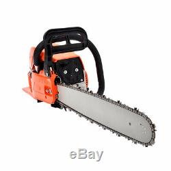 62cc Petrol Chain Saw Gas Powered 20 Bar Wood Cutting Aluminum Crankcase 20 in