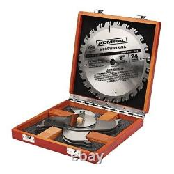 8 24T Carbide Tipped Woodworking Stacked Dado Saw Blade Flat Bottom Cut